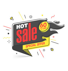 Hot sale special offer banner template in flat vector
