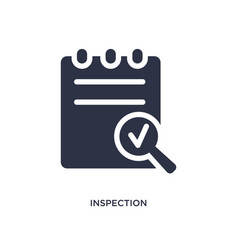 Inspection icon on white background simple vector
