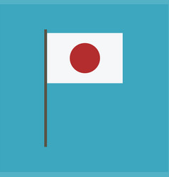 Japan flag icon in flat design vector