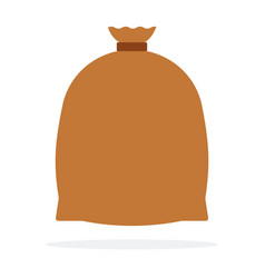large enclosed bag flat isolated vector image