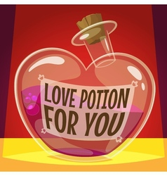 Love potion for you vector image