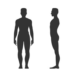 male full length black silhouette vector image