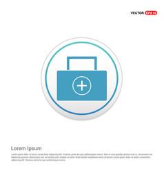medical kit icon - white circle button vector image