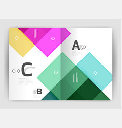 modern geometrical a4 flyer brochure vector image