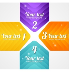 Modern glossy infographics options arrow banner vector image
