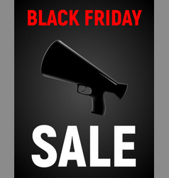 modern realistic poster for black friday sale vector image