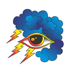 one eye of god vector image