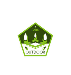 outdoor landscaping design company icon vector image