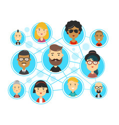 people communications in social media vector image