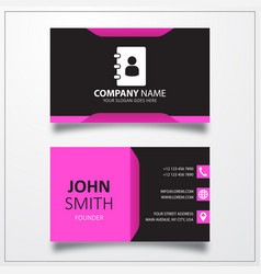 Phone book business card template vector