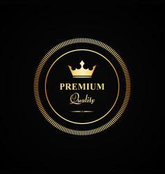 Premium quality gold badge vector
