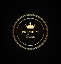 Premium quality gold badge vector