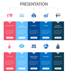 Presentation infographic 10 steps ui design vector