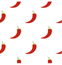 Red hot chili pepper pattern flat vector