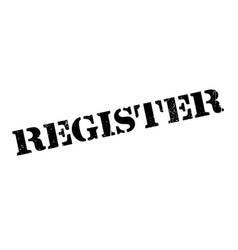 register rubber stamp vector image