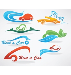 Rent a car or take a taxi vector