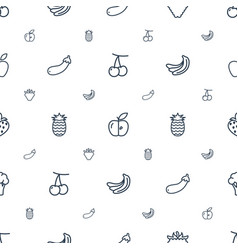 ripe icons pattern seamless white background vector image