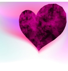 Ruby abstract purple heart EPS8 vector image vector image