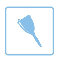 School hand bell icon vector