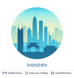 shenzhen famous china city scape vector image