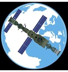 Soviet orbital station Salute-7 vector
