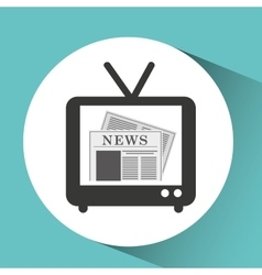 Tv retro news bubble speech design vector