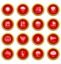 weater icons set simple style vector image
