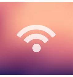 Wifi in flat style icon vector image