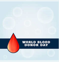 World blood donor day awareness background poster vector