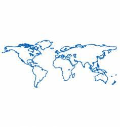 World outline vector