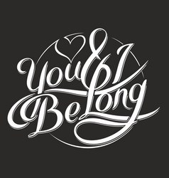you amp i be long 6 vector image