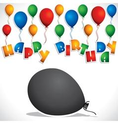 colorful balloon birthday greeting card stock vect vector image vector image