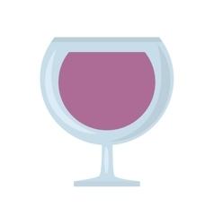 glass cup cognac beverage vector image