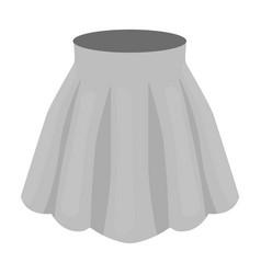 orange women s light summer skirt with pleats vector image vector image