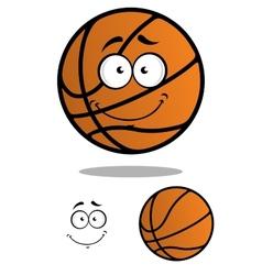 Smiling basketball ball cartoon mascot vector image