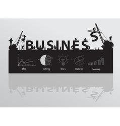Construction site crane building business text vector image vector image