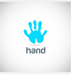 hand abstract logo vector image