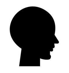 head empty icon black sign vector image