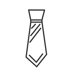 male tie line icon sign on vector image