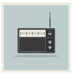 Retro radio receiver vector image vector image