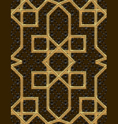 arabic seamless pattern embroidery with gold vector image