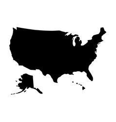black silhouette country borders map of united vector image