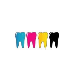 Logo for dental artist vector image