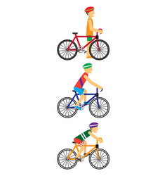 bicyclists people on bikes vector image vector image