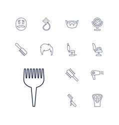 13 barber icons vector