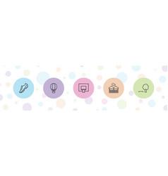 5 recreation icons vector