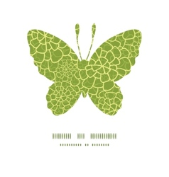 Abstract green natural texture butterfly vector