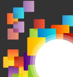 Background with colorful boxes vector image
