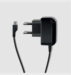 battery black vector image