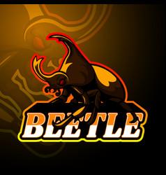 beetle esport logo mascot design vector image